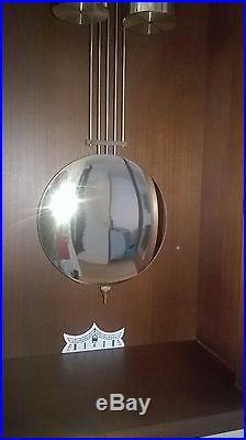 0036-German Kieninger Westminster chime 2 weights wall clock