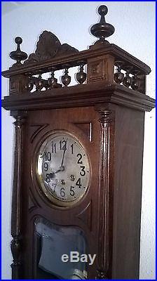 0041-Antique German Gustav Becker Westminster chime wall clock