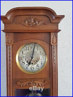 0069 Antique German Mauthe Westminster chime wall clock