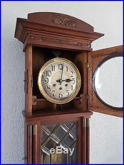 0070-Antique German Gustav Becker Westminster chime wall clock NOT Odo