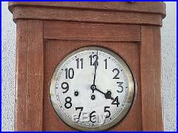 0075-Antique German Junghans Westminster chime wall clock
