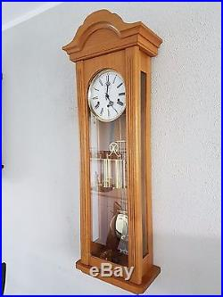 0090-German Kieninger Westminster chime 2 weights wall clock