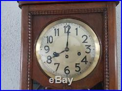 0094-Antique German Junghans Westminster chime wall clock