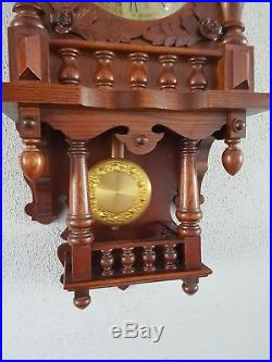 0101-German triple chime Westminster, St. Michael, Whittington wall clock