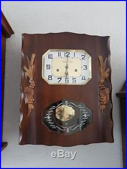 0115- French Romanet Morbier Westminster chime wall clock