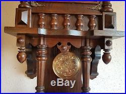 0123-German triple chime Westminster, St. Michael, Whittington wall clock
