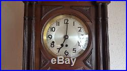 0127- Antique German Kienzle Westminster chime wall clock