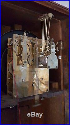 0136 Antique German Junghans Westminster chime wall clock