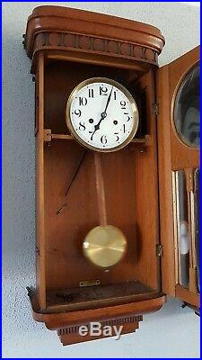 0148- Rare Antique German Junghans HAC 3/4 Westminster chime wall clock