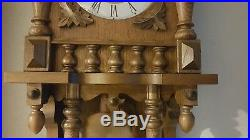 0153-German FHS Hermle Westminster chime wall clock
