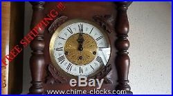 0154 German FHS Hermle Westminster chime wall clock