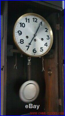 0160 Antique German Junghans Westminster chime wall clock