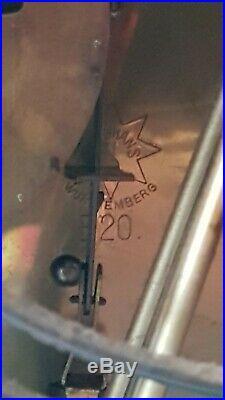 0163 Very BIG Antique German Junghans Westminster chime mantel clock