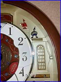 02015 Seiko QXM554BRH Melodies in Motion Wall Clock WORKS PERFECTLY