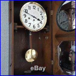 0237 Antique German Junghans Westminster chime wall clock