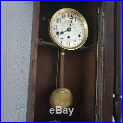 0271- Antique Kienzle Westminster chime wall clock Henry II style