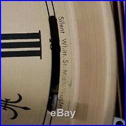 0281 German triple chime Westminster, St. Michael, Whittington wall clock