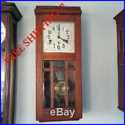 0282 Rare Antique Lenzkirch Westminster chime wall clock
