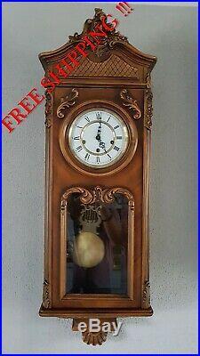 0292 German triple chime -Westminster, St. Michael, Whittington wall clock