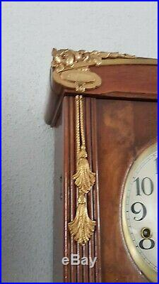 0297 Antique German Westminster chime wall clock French style NOT Odo