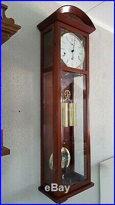 0303-VERY RARE Kieninger German Westminster chime 2 weights clock with 4 BEELS