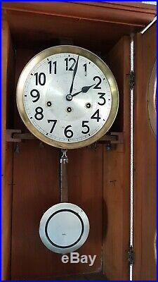 0306 Antique German Junghans Westminster chime wall clock