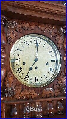 0310 German Hermle triple chime -Westminster, St. Michael, Whittington clock