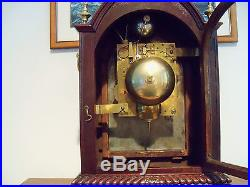 1890-1910 Triple Fusee Westminster Chime on Nested Bells Excellent