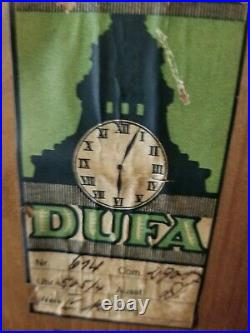 1900 German Dufa 3 weight chiming Westminster Grandfather Clock