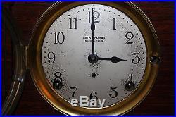1913 Seth Thomas Cabinet Clock Westminster Sonora Chime No. 5 Adamantine Finish