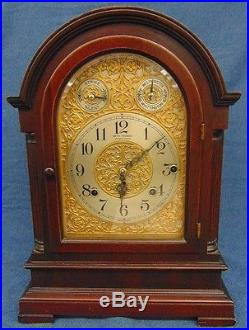 1915 Sonora 8 Bell Chime Clock Whittington, Westminster Mahogany