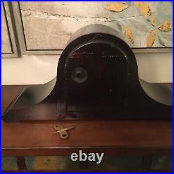 1920's ANSONIA Sonia No. 13 westminster Chime Mahogany Mantle shelf Clock W key