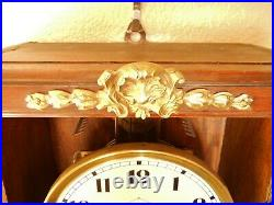 1920's French Vedette Chime Wall Clock Westminster Chime Owner's Manual Wow