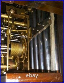 1920s Winterhalter 5 Tube Westminster Chime Hall Clock