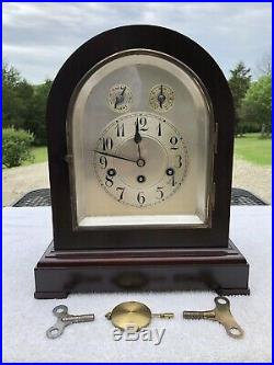 1921 Antique Junghans German Mantel Clock Working Correctly Westminster Chimes