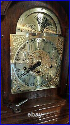 1984 Ridgeway Franz Hermle Mantle Clock Model 571 with Key Westminster Chimes