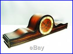 3 Melodies -with Westminster Chiming Mantel Clock Later Art Deco From Hermle