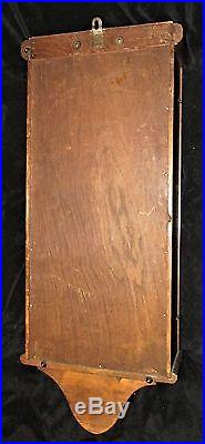 34 Antique EMBEE Art Nouveau Westminster Chime Carved Oak/Mahogany WALL CLOCK