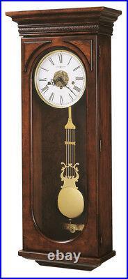 620-433 Howard Miller Key Wound Cherry Chime Wall Clock Earnest