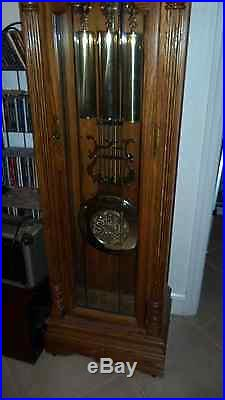 65Th Anniversary Howard Miller Moon Phase Grandfather Clock Westminster Chime