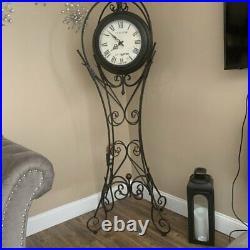 70 Metal Floor Clock Standing Vintage Chime Traditional Big Roman Home Decor