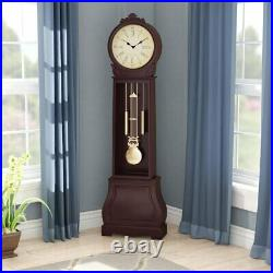 72 Floor Standing Grandfather Clock Antique Vintage Chime Traditional Big Decor