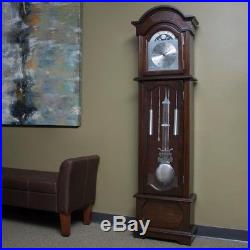 72 in. Espresso Grandfather Wall Clock Time Westminster Chime Swinging Pendulum