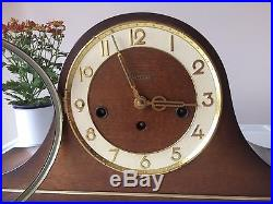 A Lovely Napoleon Hat Westminster Chime Hermle Mantle Clock & Key