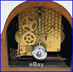 A Supurb Garrard Oak Art Deco Westminster Chiming Mantle Clock