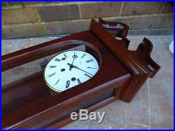 A Unused Mahogany Cased Woodford 8 Day Westminster Chime Wall Clock In Box