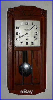 Alexandre French Wall Clock Westminster Chime 8 Day Regulator Working France