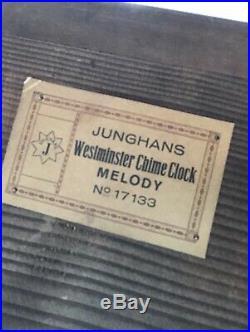 ANTIQUE Estate JUNGHANS Germany WESTMINSTER CHIME Hump-Back MANTLE CLOCK