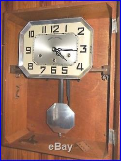 ANTIQUE FRENCH WESTMINSTER CHIME WALL CLOCK KEY-WIND 8 BARS, 8 HAMMERS Nr. 23
