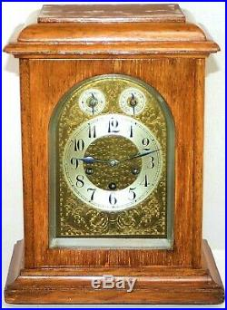 ANTIQUE GERMAN JUNGHANS 1914 LARGE BRACKET CLOCK With QUARTERLY WESTMINSTER CHIME